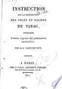 Instruction sur la préparation des tiges et racines du tabac, considerées comme engrais des plantations successives