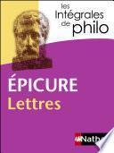 Intégrales de Philo - EPICURE, Lettres