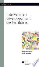 Intervenir en développement des territoires