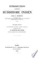 Introduction à l'histoire du buddhisme indien