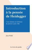 Introduction à la pensée de Heidegger