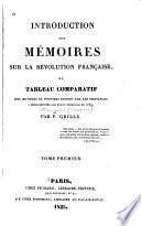 Introduction aux mémoires sur la révolution française