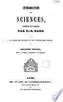 Introduction aux sciences