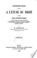 Introduction générale à l'étude du droit