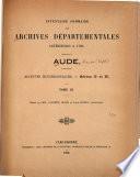 Inventaire sommaire des Archives départementales antérieures à 1790: Archives ecclésiastiques. Séries G et H, rédigé par MM. Laurent, Bloch et J. Doinel