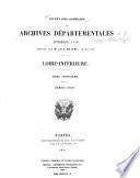 Inventaire-sommaire des archives départementales antérieures à 1790