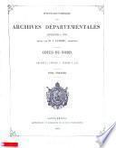 Inventaire-sommaire des archives départementales. Côtes-du-Nord, par J. Lamare [and others].