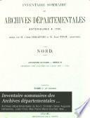 Inventaire sommaires des Archives départementales antérieures à 1790, Nord