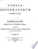 Ioannis Calvini opera quae supersunt omnia0
