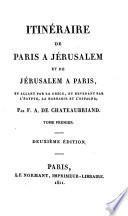 Itinéraire de Paris à Jérusalem et de Jérusalem à Paris