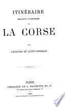 Itinéraire descriptif et historique de la Corse