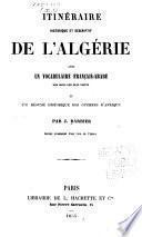 Itinéraire historique et descriptif de l'Algérie