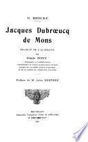 JACQUES DIUBROEUCQ DE MONS