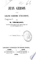 Jean Gerson et le Grand Schisme d'Occident