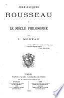 Jean-Jacques Rousseau et le siècle philosophe
