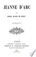 Jeanne d'Arc par Henri Blaze de Bury
