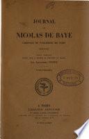 Journal, 1400-1417. Texte complet publ. par A. Tuetey