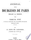 Journal d'un bourgeois de Paris pendant la Terreur