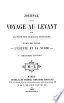 Journal d'un voyage au Levant