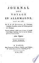 Journal d'un voyage en Allemagne, fait en 1773