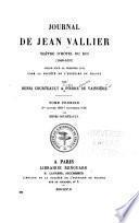 Journal de Jean Vallier