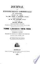 Journal de jurisprudence commerciale et maritime