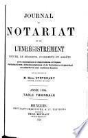 Journal de l'enregistrement et du notariat