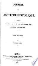Journal de l'Institut historique