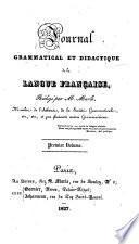 Journal de la langue française et des langues en général
