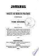 Journal de la société de médecine-pratique de Montpellier
