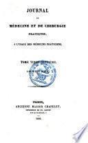 Journal de médecine et de chirurgie pratique