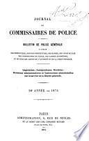 Journal des commissaires de police