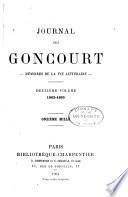 Journal des Goncourt: 1862-1865