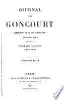 Journal des Goncourt--: 1870-1871. Postface de M. Lucien Descaves. Édition définitive, publiée sous la direction de l'Académie Goncourt. [1935