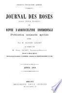 Journal des roses (rosa inter flores) et revue d'arboriculture ornementale