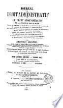 Journal du droit administratif