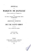 Journal du marquis de Dangeau: 1687-1689