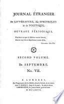 Journal étranger de littérature, des spectacles, et de politique