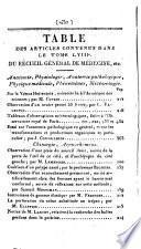 Journal général de médecine, de chirurgie, et de pharmacie; ou Recueil périodique de la Société de Médecine de Paris