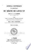 Journal historique et anecdotique du règne de Louis XV