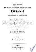 Kleines vollständiges praktisches und techno-terminologisches Wörterbuch französisch-deutsch und deutsch-französisch