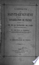 L'abbaye de Sainte-Geneviève et la Congregation de France: La Congrégation de France