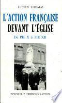 L'Action française l'Eglise