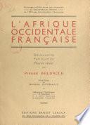 L'Afrique occidentale française