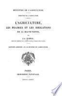 L'agriculture, les prairies et les irrigations de la Haute-Vienne