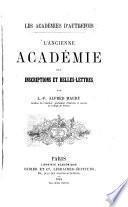 L'ancienne Académie des inscriptions et belles-lettres