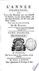 L'année françoise ou vies des hommes qui ont honoré la France, pour tous les jours de l'année