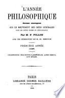 L 'année philosophique