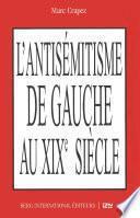 L'antisémitisme de gauche au XIXe siècle
