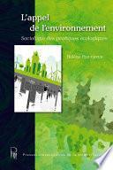 L'appel de l'environnement